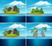 Set raj wyspa ilustracji