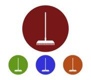 Set of rake icons illustrated Stock Photo