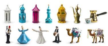 Set Ramadan elementy, Ramadan elementy zdjęcia royalty free