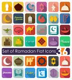 Set of ramadan flat icons Stock Photo