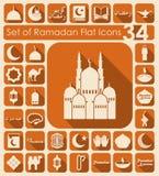 Set of ramadan flat icons Royalty Free Stock Photo