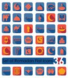 Set of ramadan flat icons Royalty Free Stock Photos