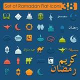 Set of ramadan flat icons Stock Photography