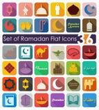 Set of ramadan flat icons Royalty Free Stock Images