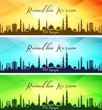 Set of ramadan kareem banners Stock Photo