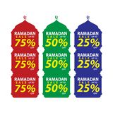 Set of Ramadan Sale Design Vector,modern template,Suitable for Greeting Card,Banner and Poster vector illustration