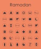 Set of ramadan simple icons Stock Photos
