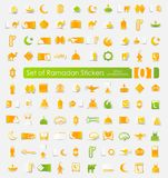 Set of ramadan stickers Royalty Free Stock Images