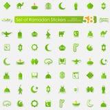 Set of ramadan stickers Stock Photography