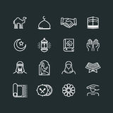 Set of Ramadhan Icons. Vector Line Icons vector illustration
