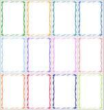 Set ramy i granicy z barwiącymi faborkami Zdjęcia Royalty Free