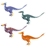 Set of raptors Royalty Free Stock Photos