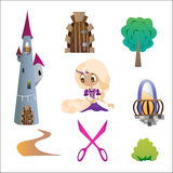 Set Rapunzel Royalty Free Stock Photo