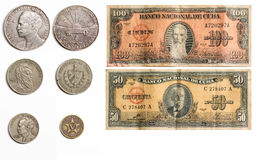 Set of rare Cuban Money Royalty Free Stock Images