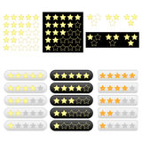 Set of rating golden stars