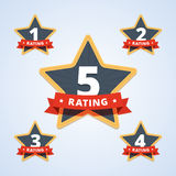Set of a rating stamp, badge. Royalty Free Stock Photos