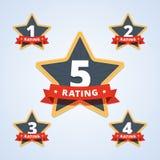Set ratingowy znaczek, odznaka Zdjęcia Royalty Free