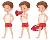 Set ratownik postacie royalty ilustracja