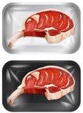 A Set of Raw Pork Chops. Illustration stock illustration