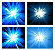 Set of Ray lights Explosion Stock Images