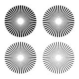 Set rays, beams element. Collection starburst shape. Radiating, radial, merging lines. isolated on white background. Vector illustration. Eps 10 stock illustration