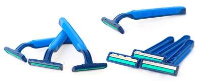 Set of razors isolated Stock Image