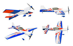 Set RC samolot zdjęcie stock