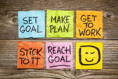 Set and reach goal concept Stock Photos