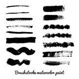 Set of real brush strokes vector Stock Photography