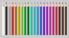 Set of a real color wood pencil. A set of a real color wood pencil Royalty Free Stock Image