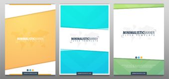 Set of Real Estate Business Brochure. Flyer Design. Leaflets a4. Template. Cover Book and Magazine. Vector illustration Royalty Free Stock Photography