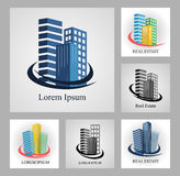 Set of real estate emblems and logos. Stock Photos