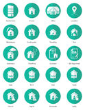 Set of real estate icon in flat design. Vector, Illustration Royalty Free Stock Image