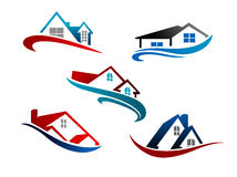 Set of real estate icons Royalty Free Stock Photography