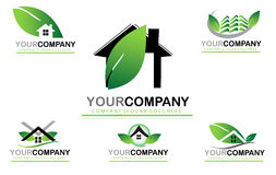Set real estate logo design. Set with icons , real estate logo design for your company. Home sales Stock Photography