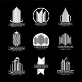 Set of real estate logo designs, Building logo design Stock Photos