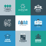 Set of Real estate Logo and Signs. Freehand drawing vector illustration Stock Photography