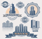 Set Real Estate projekta elementy ilustracji