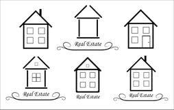 Set Real Estate Vector icon Royalty Free Stock Photo