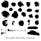 Set of real round brush strokes vector Royalty Free Stock Photography