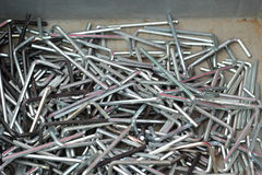 Set of real used stainless Royalty Free Stock Photos