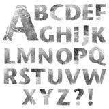 Set reale Fingerabdruckzeichen getrennt lizenzfreie abbildung