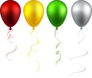 Set of realistic balloons. Stock Images