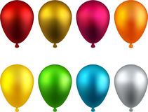 Set of realistic balloons. Stock Photography