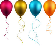 Set of realistic balloons. Royalty Free Stock Images