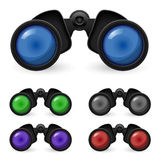 Set of realistic binoculars Stock Image