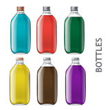 Set of realistic bottles Royalty Free Stock Image