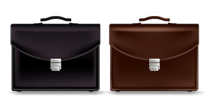 Set of Realistic Briefcase for Business  Stock Images