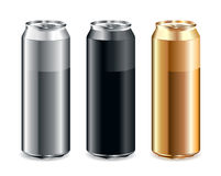Set of realistic cans. Just set of realistic cans Stock Photos