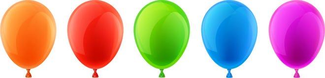 Set of realistic celebration balloons. Stock Photography